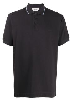 Zegna stripe detail polo shirt