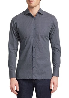 Zegna Triangle-Print Shirt