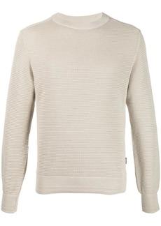 Zegna waffle-knit crewneck jumper
