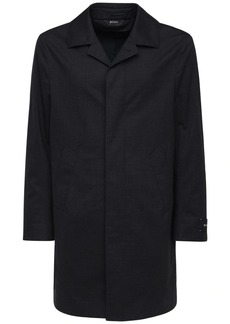 Zegna Water Resistant Stretch Wool Coat