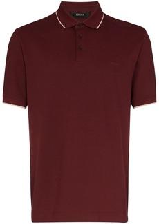 Zegna tonal logo-embroidered polo shirt