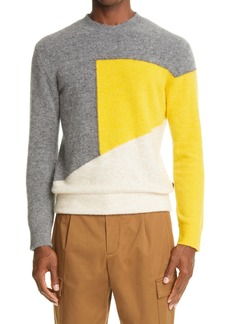 Z Zegna Colorblock Crewneck Sweater
