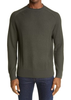 Z Zegna Engineered Raglan Wool Sweater