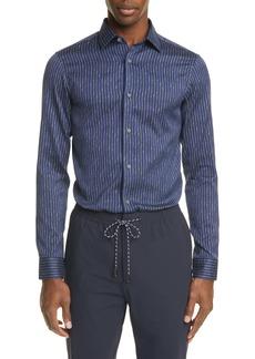 Z Zegna Extra Slim Fit Stripe Button-Up Shirt