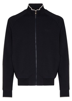 Zegna logo-embroidered track top