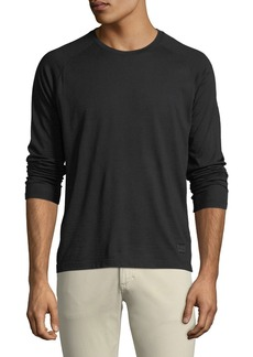 Z Zegna Men's Techmerino Jersey Long-Sleeve T-Shirt