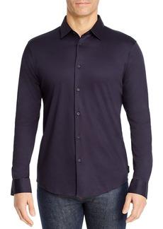 Z Zegna Mercerized Cotton Jersey Slim Fit Sport Shirt