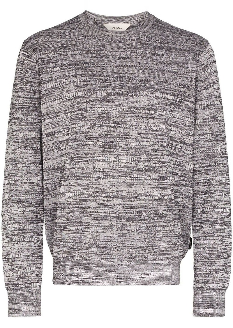 Zegna crew neck jumper
