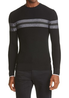Z Zegna Tech Rib Stripe Sweater