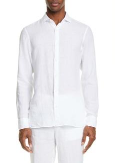 Z Zegna Extra Slim Fit Linen Sport Shirt