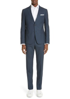 Z Zegna Trim Fit Solid Wool Travel Suit