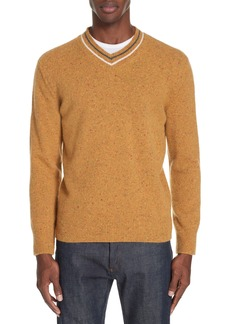 Z Zegna Trim Fit V-Neck Wool & Cashmere Sweater