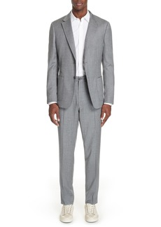 Z Zegna Wash and Go Trim Fit Solid Wool Suit