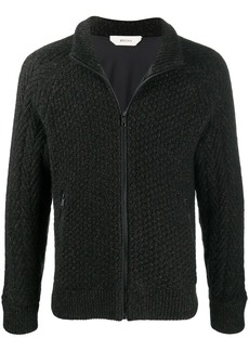 Zegna zip-up knitted jacket