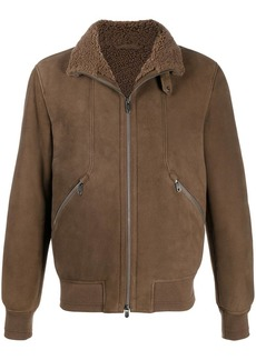 Zegna zip-up lambskin jacket