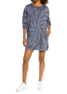 Zella Cali Tie Dye Cotton Blend Sweatshirt Dress