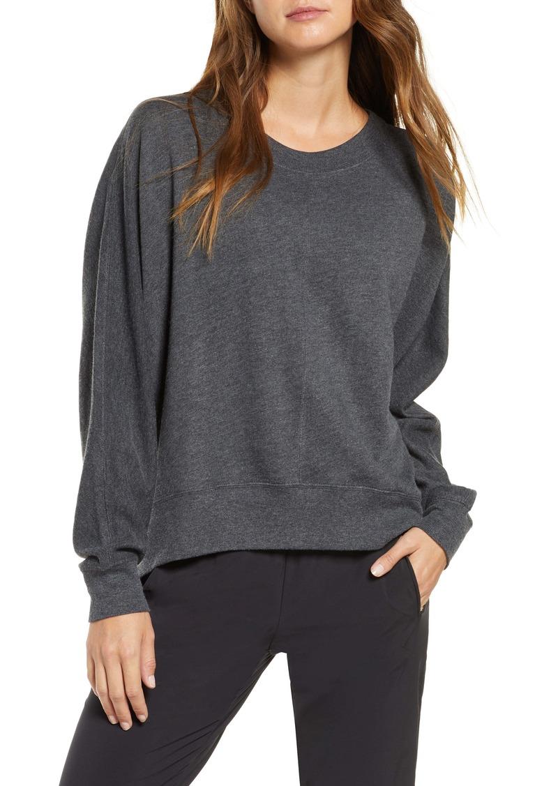 Zella Carey Crew High/Low Sweatshirt