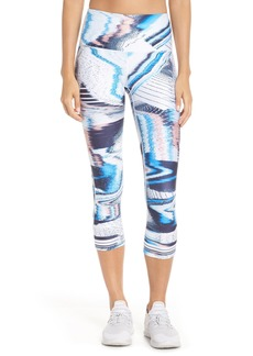 Zella Live In Print High Waist Crop Leggings