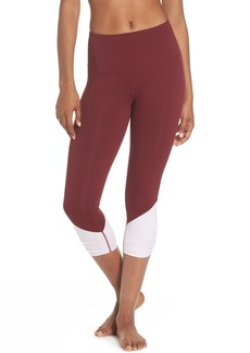 Zella Sheer Drama Crop Leggings