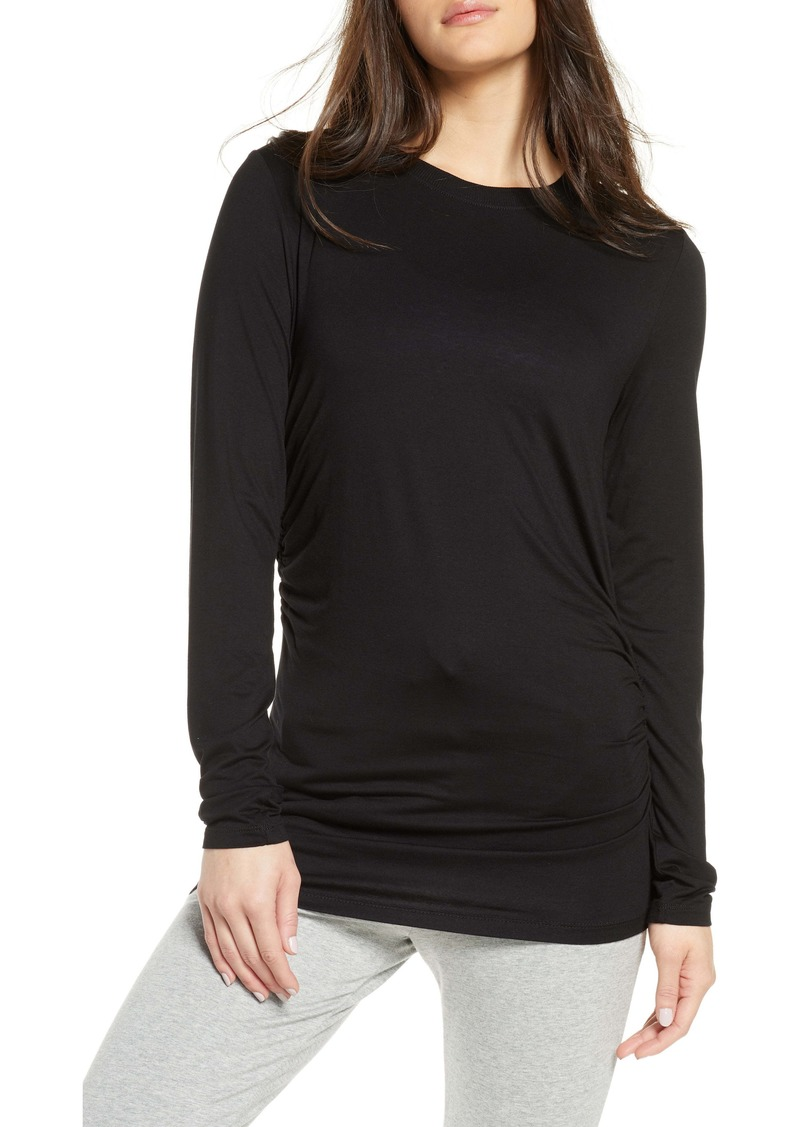 Zella Asymmetrical Side Ruched Tee