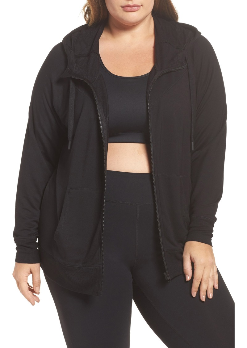 2ca31e04236 Zella Zella Well Played Zip Fleece Hoodie (Plus Size)