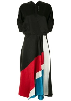 Zero + Maria Cornejo colour block dress