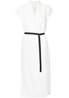Zero + Maria Cornejo contrast belt dress