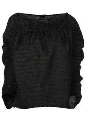 Zero + Maria Cornejo cropped sleeve sweater