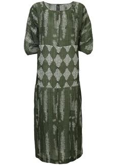Zero + Maria Cornejo geometric woven dress