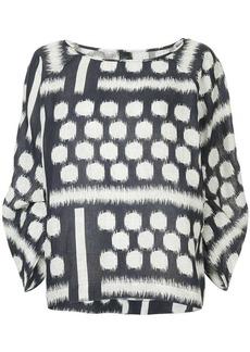 Zero + Maria Cornejo print blouse