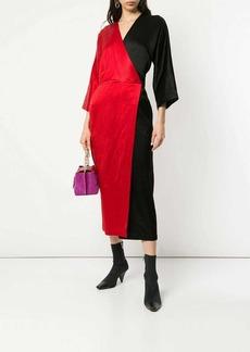 Zero + Maria Cornejo two-tone dress