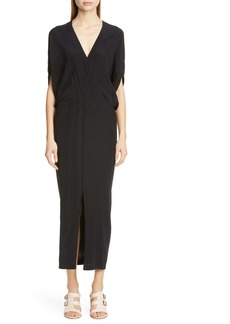 Zero + Maria Cornejo Aki Stretch Silk Charmeuse Midi Dress