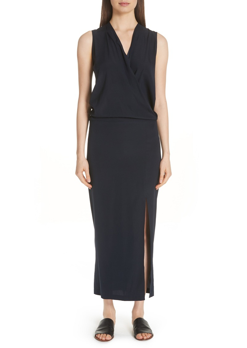 Zero + Maria Cornejo Blouson Stretch Silk Dress