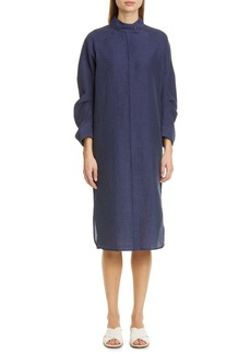 Zero + Maria Cornejo Camisa Cotton Blend Midi Shirtdress