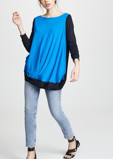 Zero + Maria Cornejo Colorblock Off Shoulder Bubble Top