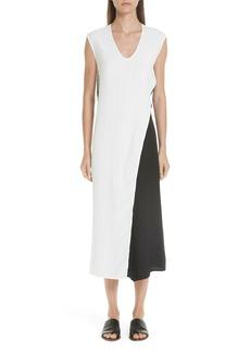Zero + Maria Cornejo Colorblock Twist Dress