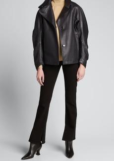 Zero + Maria Cornejo Cuadro Leather Jacket