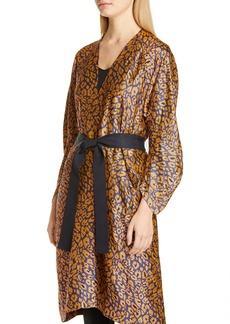 Zero + Maria Cornejo Curve Oki Cheetah Jacquard Coat