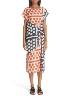 Zero + Maria Cornejo Dot Print Linen Dress