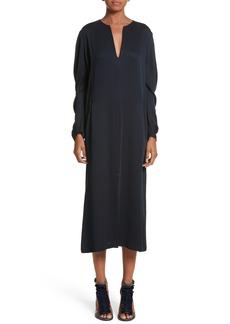 Zero + Maria Cornejo Eco Drape Midi Dress