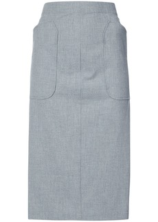 Zero + Maria Cornejo Eda pencil skirt - Grey