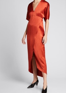 Zero + Maria Cornejo Eri Faux-Wrap Dress