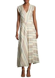 Zero + Maria Cornejo Eve Mosa Striped Midi Dress