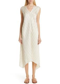 Zero + Maria Cornejo Foulard Plissé Linen & Silk Dress