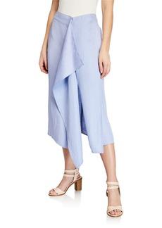 Zero + Maria Cornejo Freya Linen Draped Skirt