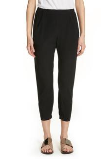 Zero + Maria Cornejo Gabi Drape Silk Blend Pants