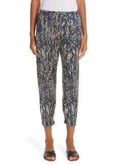 Zero + Maria Cornejo Gabi Hair Print Stretch Silk Pants