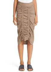 Zero + Maria Cornejo Gemma Ruched Marine Twill Skirt