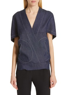 Zero + Maria Cornejo Hex Denim Shrug