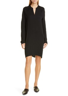 Zero + Maria Cornejo Hex Eco Drape Long Sleeve Tunic Dress